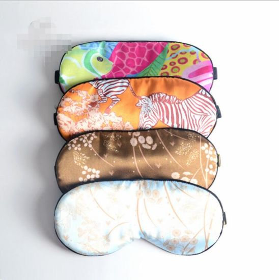 Sleeping Silk Eye Mask Made Of 100 Mulberry 22 Mm Satin Fabric And In Custom Pattern Size