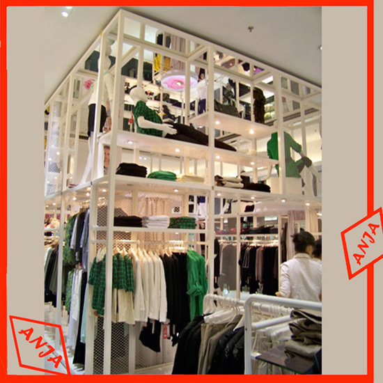 China Outdoor Promotion Metal/Wooden/Stainless Steel Garment Display