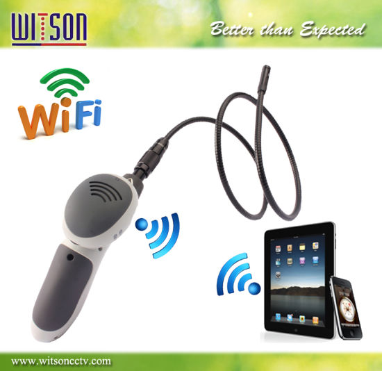Witson Endoscope Inspection Snake Camera 8mm Camera Head, WiFi Support Apple and Android (W3-CMP3813WX)