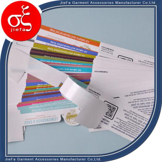 China Custom Self Adhesive Printing Sticker for Packing (JFK