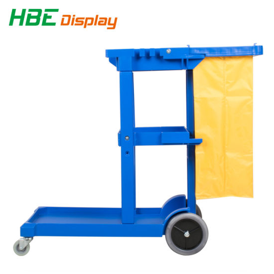 Hotel Room Service Mechanical Cleaning Wringer Cart pictures & photos