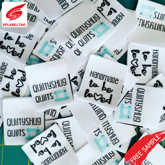 Custom Garment Label Apparel Woven Labels for Swimwear