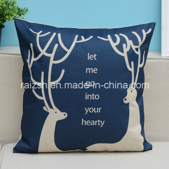 England Home Textiles Printing Cotton and Linen Cartoon Pillow Cover Cushion