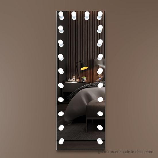 Long Standing Mirror Antioxidative Big, Big Standing Mirror With Light Bulbs