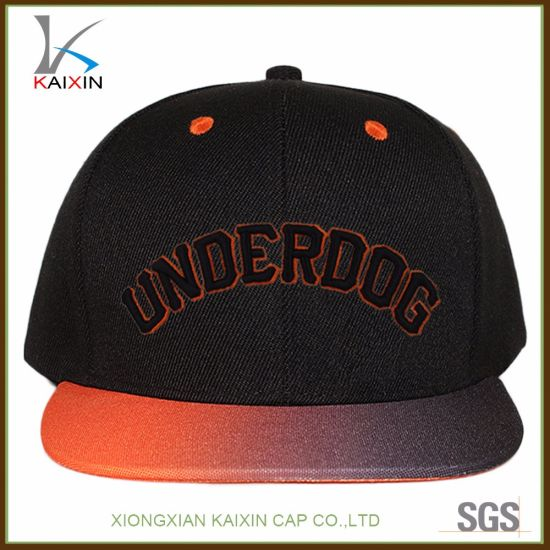Custom 3D Embroidery Logo Snapback Caps with Digital Printing Brim Wholesale 5639fc32ccb6