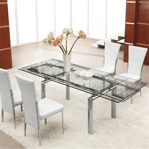 Modern Extendable Glass Dining Table For Dining Room L808a China Glass Dining Table Extendable Glass Dining Table Made In China Com