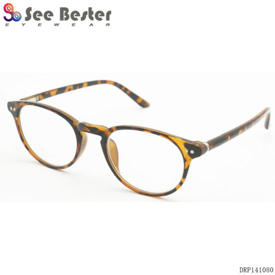a592a68ffede Seebester Best Prices Fashionable Round Retro Reading Glasses Wholesale  Eyeglass Frames with Colorful Pattern