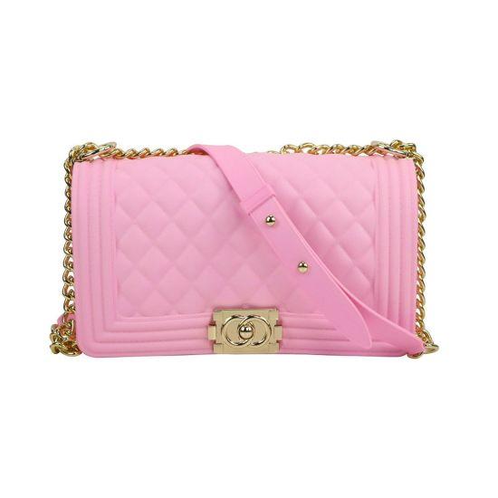 Women Crossbody Bag Waterproof Shoulder Bag Chain Handbags Messenger Bag Summer Beach Bag Fashion PVC Bag Esg14265