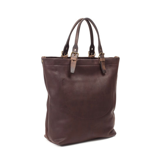 High End Fashion Design Vintage Leather Tote Bag Handbag with Shoulder Strap 14636ce5dda6c