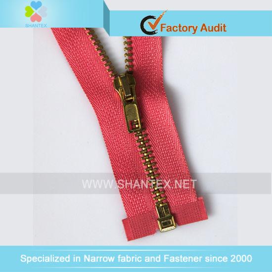 No. 4 Golden Brass Zipper Open End
