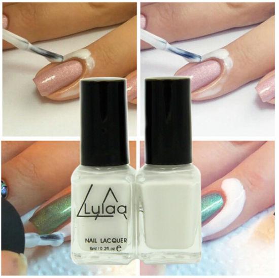 China White Peel Off Latex Nail Art Skin Protected Liquid Base Coat