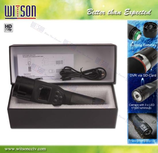 Witson LED Rechargeable Flashlight DVR Via SD Card (W3-FD3009)