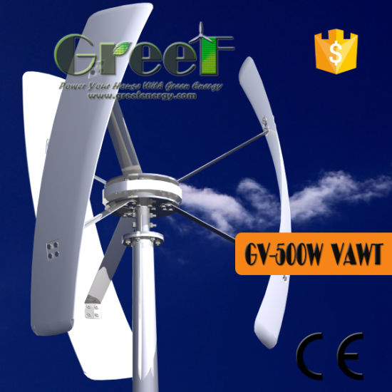 Greef Wind Turbine Gv-500watts with off Grid Controller 24volt pictures & photos