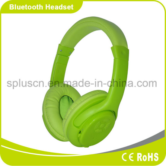 Fashion Wireless Stereo Headphone with SD Card MP3 Player Bluetooth Headphone pictures & photos