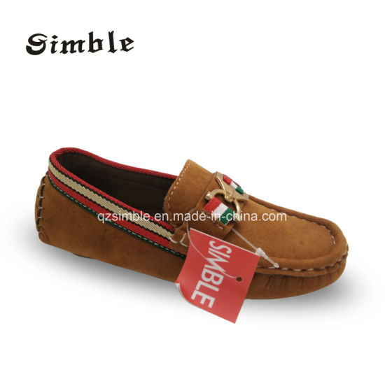 Children Loafer Casual Shoes with Suede Leather Upper