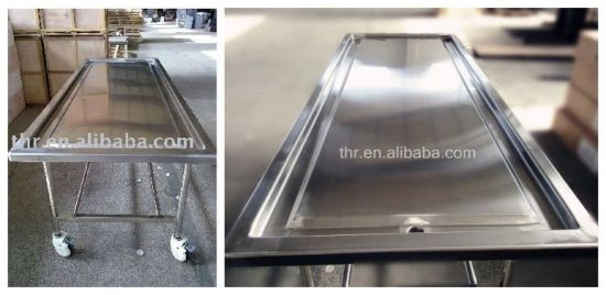 Full Stainless Steel Embalming Table (THR-105) pictures & photos