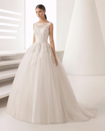 China Customize New Design Boat Neck V Back Lace Bridal Wedding ...