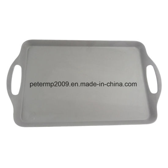 Rectangle Resistance Chinese Fast Food Bamboo Fiber Tray with Handle