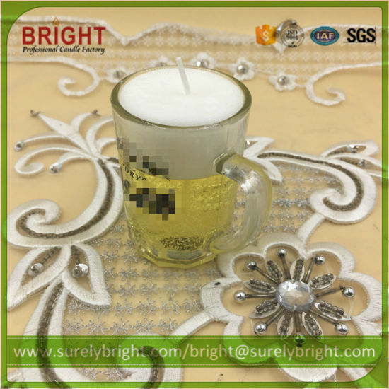 China Decoration Gift Gel Wax Candles in Glass Jar Holder