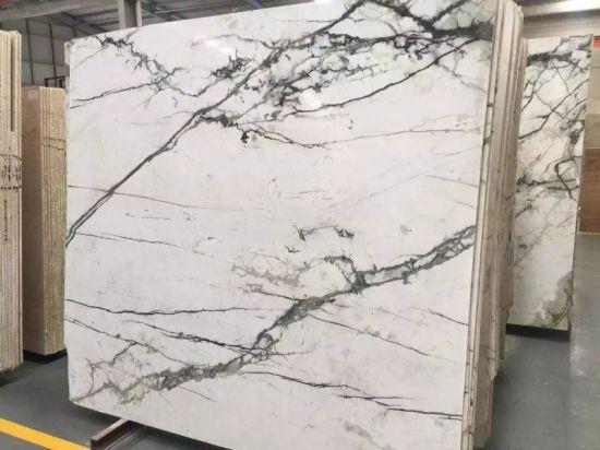 China Clivia Green Marble Slab For KitchenBathroomWallFloor - Marble slab bathroom