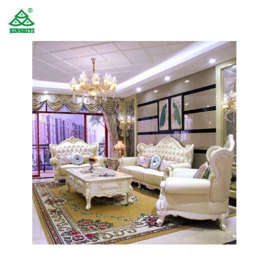 Modern Hotel Bedroom Furniture Fireproof Elegant Fabric Sofa Easy Assemble