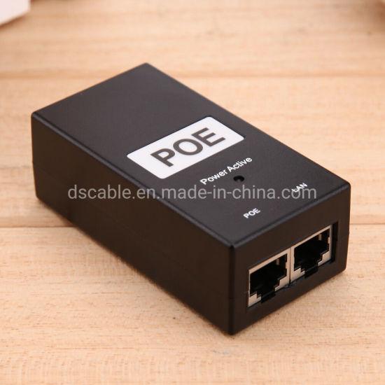 24V2a Desktop Poe Power Injector Ethernet Adapter for IP Camera LAN Network CCTV
