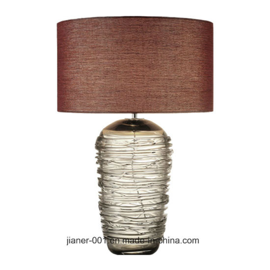China high quality unique design contemporary smoke crystal glass high quality unique design contemporary smoke crystal glass bedside desk table lamp light for hotel bedroom lobby aloadofball Images
