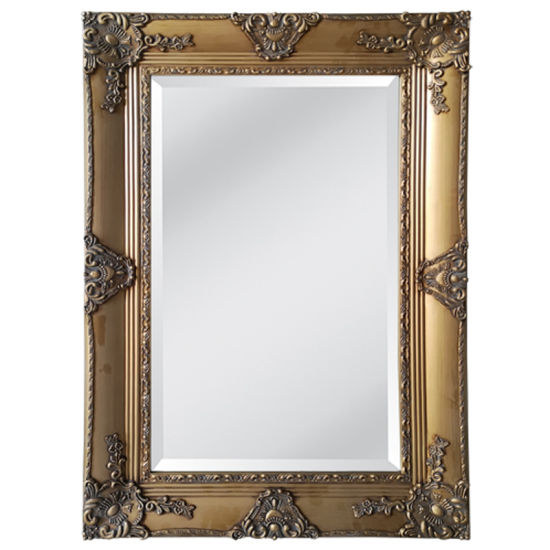 China Large Wooden Decorative Frame Gold Wall Mirror China Mirror Wall Mirrors