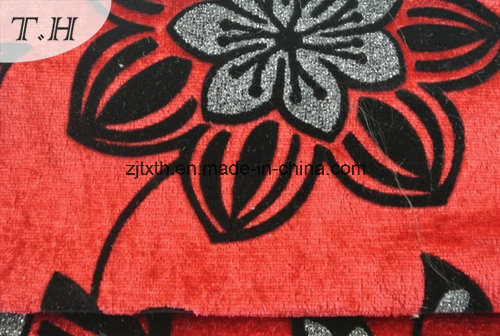 2016 Flocking Printed Fabric for Sofa and Furniture pictures & photos