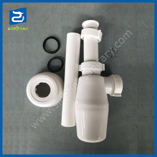 China Plastic Kitchen Sink Stopper Drain Pipe Single Basin Launching Pp Bottle Trap China Plastic Kitchen Stopper Pp Bottle Drain