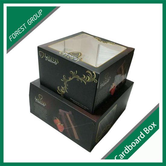 Cardboard Food Cake Box with PVC Window