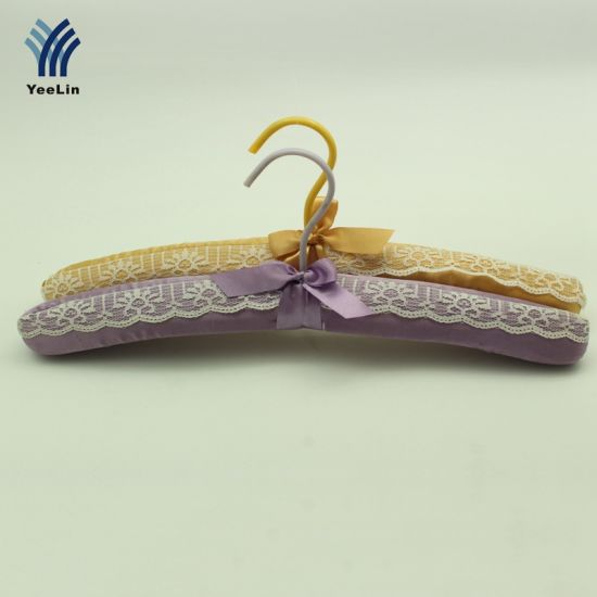 Yeelin 2 Color Lace Padded Clothes Hanger For Wedding Dress