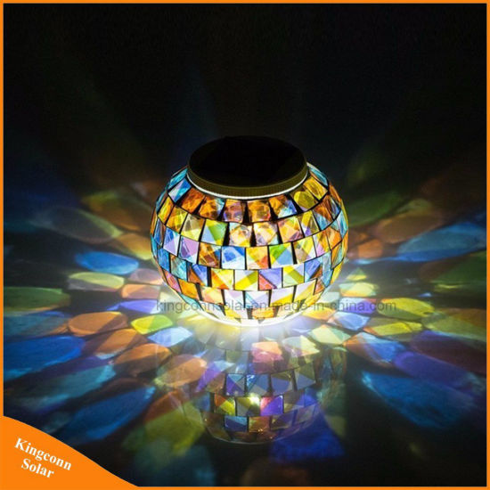 China solar powered mosaic glass ball garden light color changing solar powered mosaic glass ball garden light color changing outdoor solar table lamps for parties decorations aloadofball Gallery