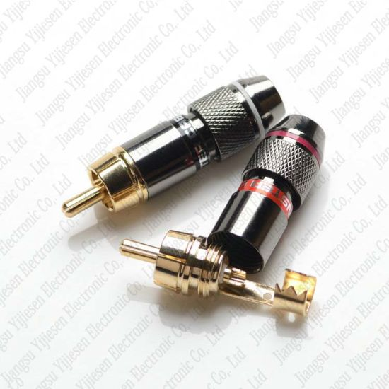 Brilliant China Metel Rca Phono Male Plug Solder Connector Adapter Terminal Wiring Digital Resources Funapmognl