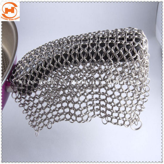 Cast Iron Pan Skillet Stainless Steel Chain Mail Cleaner