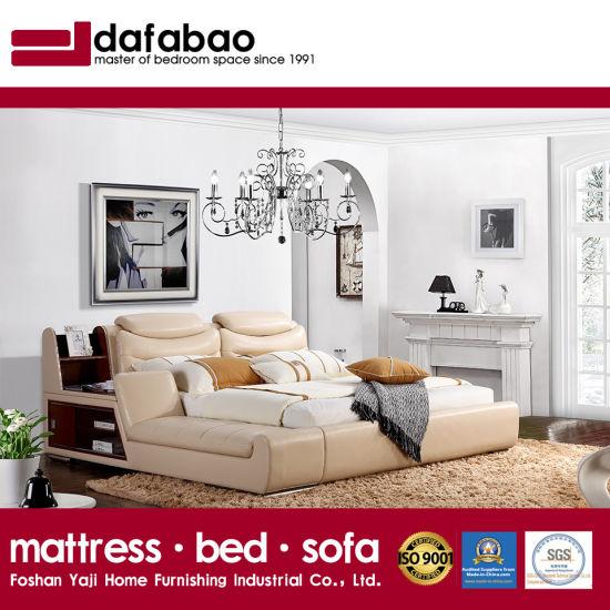 [Hot Item] Leather Bed Living Room Bedroom Set Modern Furniture, Fb8153
