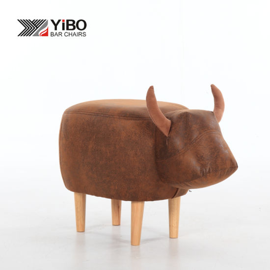 Home Furniture Shoes Changing Wooden Stool Chair Footstool Animal Shaped  Ottoman Shoe Fitting Stool With Good Price