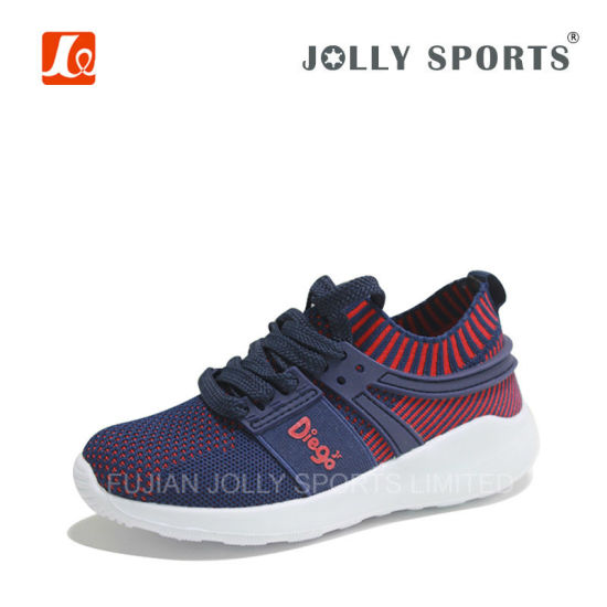 Sports Flywire Weaving Jogging Shoes For Boy Girl,Print No Idear