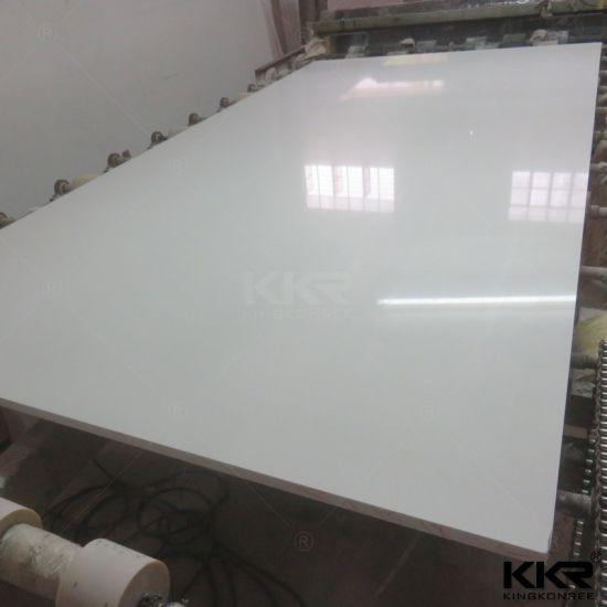 Pure White 20mm Engineered Stone Quartz Slab Pictures Photos
