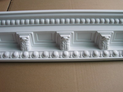 Gold Polyurethane Foam Decorative Crown Moulding Cornice for Ceiling Decoration