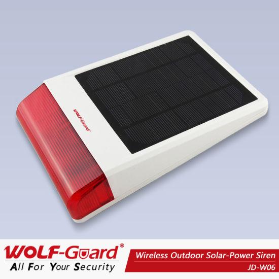 China GSM Solar Spot Alarm System with Flash Siren - China