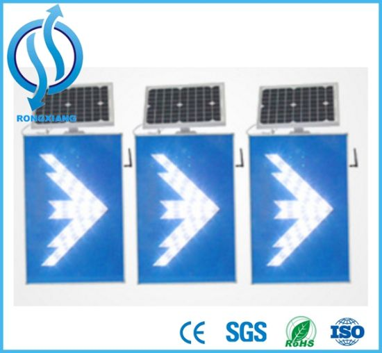 China Manufactory LED Solar Road Traffic Sign pictures & photos