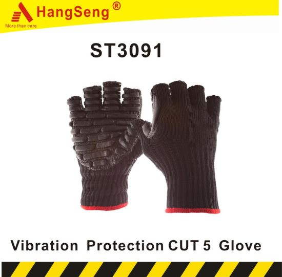 TPR Vibration Protection Cut5 Safety Work Glove for Industrial Purpose Use