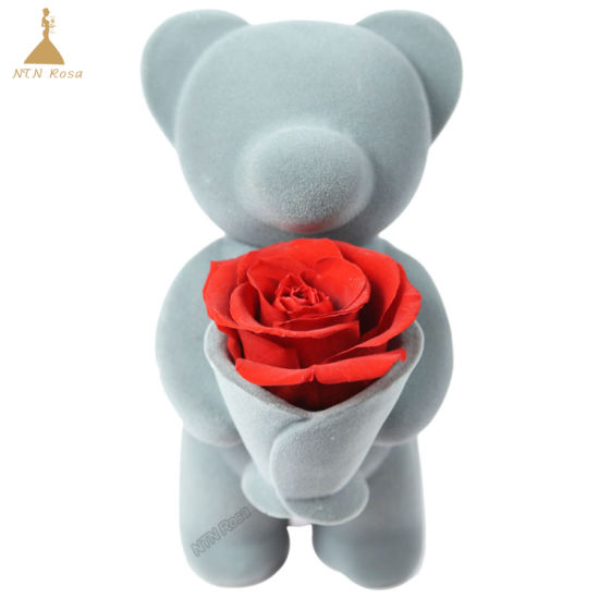 China Handcraft Red Rose Bear For Birthday Or Holiday Gift China