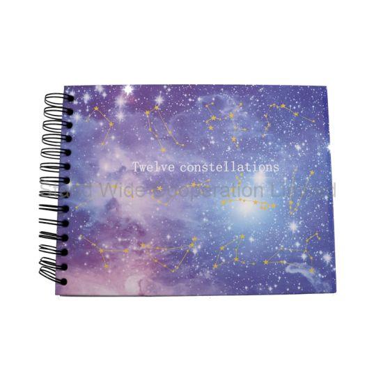 China 12 Constellations Spiral Black Paper Scrapbook Diy Custom