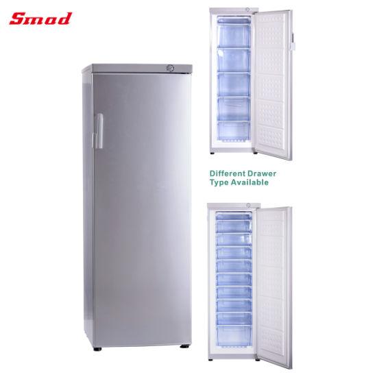 310 L Upright Freezer Aluminum Plate Evaporator Upright Deep Freezer