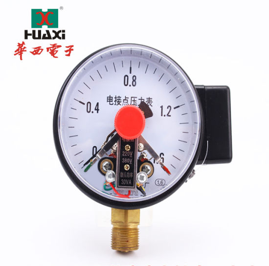 Photoelectric Induction Electric Contact Pressure Gauge with Lasted Type Diameter Commercial Electric Contact Pressure Gauges