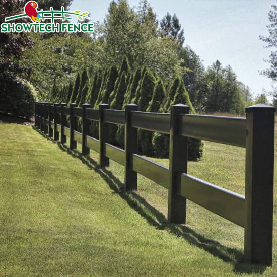 Black Painted 4 Rail Plank Fence On Tennessee Equine Farm Horse Fencing Farm Fence Fence