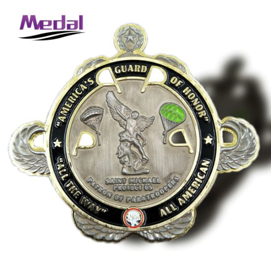 China Factory Cost Free Design Die Casted Logo Army Challenge Coins