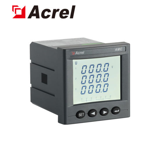 Acrel LCD AC Programmable Optional Switching Input/ Output Voltmeter Voltage Meter Amc72L-AV3 pictures & photos